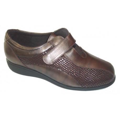 Zapatos con cierre velcro Doctor Cutillas, lateral elastico