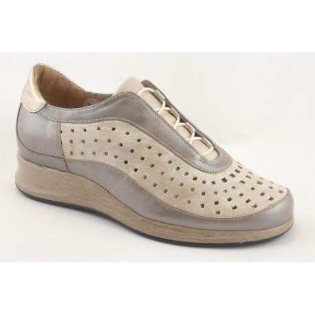 Miquel zapato con cordones para plantillas , ancho especial 14